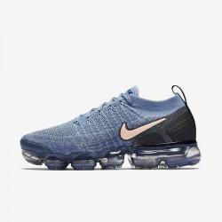 Womens Nike Air VaporMax Flyknit 2 Blue Pink Running Shoes 942843 401