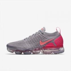 Womens Nike Air VaporMax Flyknit 2 Gray Pink Running Shoes 942843 005