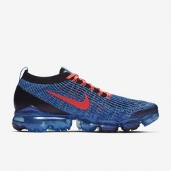 Air VaporMax Flyknit 3 Orange Blue Unisex Running Shoes AJ6900 401