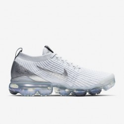 Nike Air VaporMax Flyknit 3 White Gray Unisex Running Shoes AJ6900 101