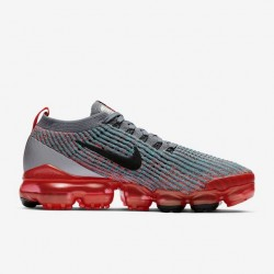 Womens Nike Air VaporMax Flyknit 3 Gray Orange Black AJ6910 601