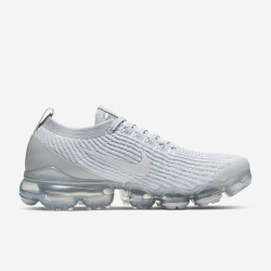 Womens Nike Air VaporMax Flyknit 3 White Running Shoes AJ6910 102