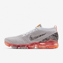 Mens Air VaporMax Flyknit 3 Fuchsia Gray Running Shoes AJ6900 106