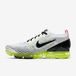 Mens Air VaporMax Flyknit 3 Green Gray Black Unisex Running Shoes AJ6900 100