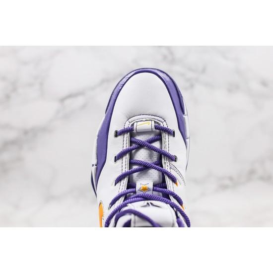 Kobe Bryant Nike Basketball Shoes White Yellow Purple Sneakers