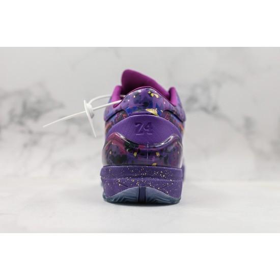 Nike Kobe IV Protro Basketball Shoes 639693-500 Gold Purple Sneakers