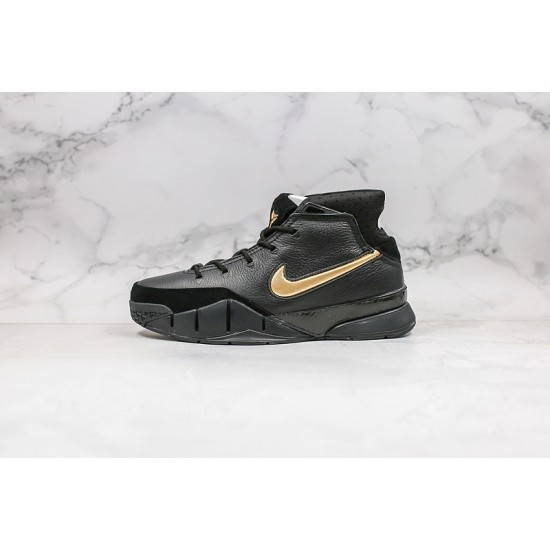 Kobe Bryant Nike Basketball Shoes Black Gold Sneakers