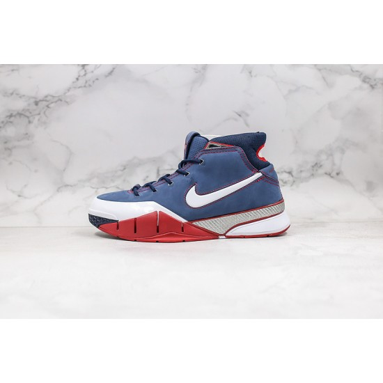 Kobe Bryant Nike Basketball Shoes Blue Red White Sneakers