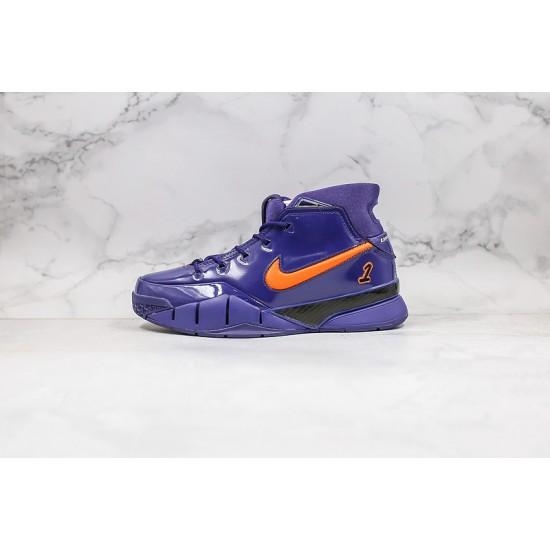 Kobe Bryant Nike Basketball Shoes Deep Blue Orange Sneakers