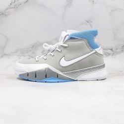 Kobe Bryant Nike Basketball Shoes Gray Blue White Purple Sneakers