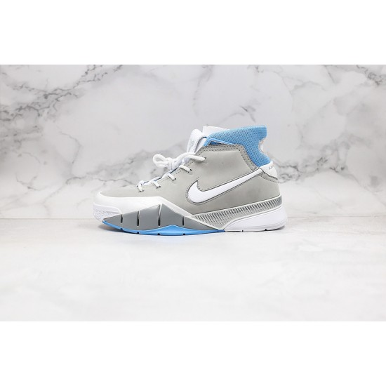 Kobe Bryant Nike Basketball Shoes Gray Blue White Purple Sneakers
