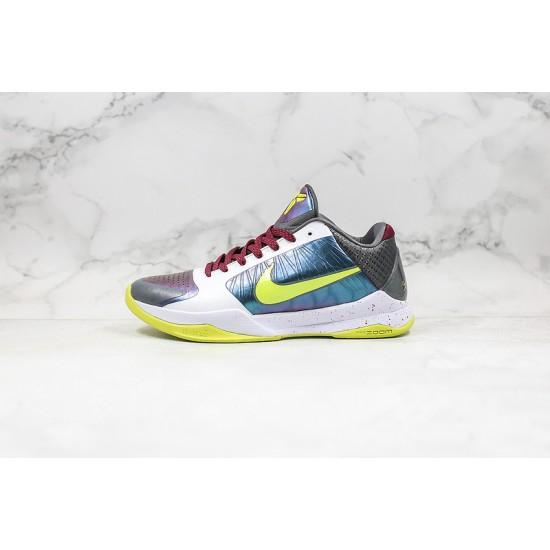 Nike Kobe 5 Protro Mens Basketball Shoes CD4991-100 White Blue Yellow Sneakers