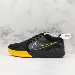 Nike Kobe IV Protro Basketball Shoes AV6339-002 Yellow Black Sneakers