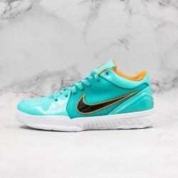 Nike Kobe IV Protro Blue Black Yellow Low Basketball Shoes