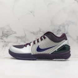 Nike Kobe IV Protro Gray Black Blue Basketball Shoes