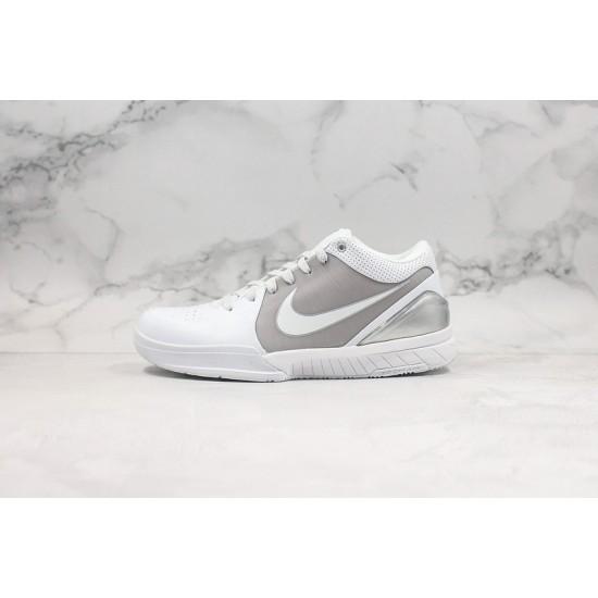 Nike Kobe IV Protro Gray White Basketball Shoes 344335-111 Sneakers