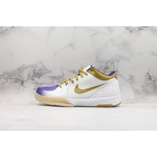 Nike Kobe IV Protro White Gold Blue Basketball Shoes 344335-171 Sneakers