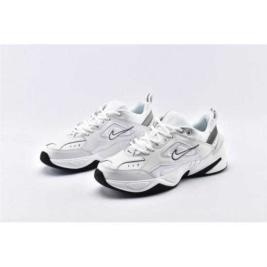 Nike M2K Tekno All White Black Sneakers BQ3378-100 Unisex Running Shoes