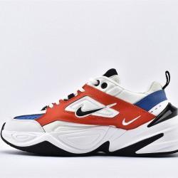Nike M2K Tekno Orange Blue White Sneakers AV4789-100 Unisex Running Shoes