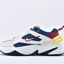 Nike M2K Tekno White Blue Yellow Pink Sneakers AO3108-402 Unisex Running Shoes