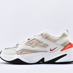 Nike M2K Tekno White Gray Red Sneakers AV4789-102 Unisex Running Shoes