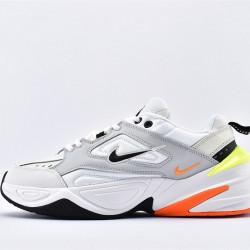 Nike M2K Tekno White Orange Black Sneakers AV4789-004 Unisex Running Shoes