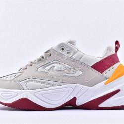 Nike M2K Tekno White Yellow Red Sneakers AO3108-016 Running Shoes