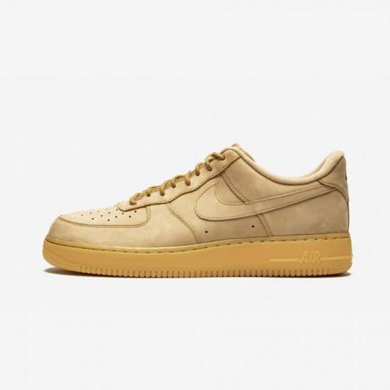 Nike Air Force 1 '07 WB AA4061 200 Beige Flax / Flax -Gum Light Brown Running Shoes