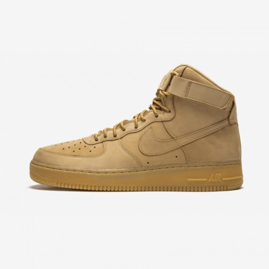"""Nike Air Force 1 High '07 LV8 """"FLAX"""" 806403 200 Brown Flax/Flax-Outdoor Green Running Shoes"""
