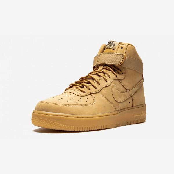 Nike Air Force 1 High 07 LV8 WB 882096 200 Brown Flax/Flax-Outdoor Green-Gum Li Running Shoes