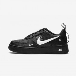 Nike Air Force 1 LV8 Utility (GS) AR1708 001 Black Black/White-Black-Tour Yellow Running Shoes
