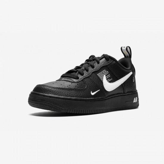 Nike Air Force 1 LV8 Utility (GS) AR1708 001 Black Black/White-Black-Tour Yellow Running Shoes
