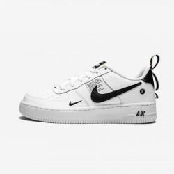 Nike Air Force 1 LV8 Utility (GS) AR1708 100 Black White/White-Black-Tour Yellow Running Shoes