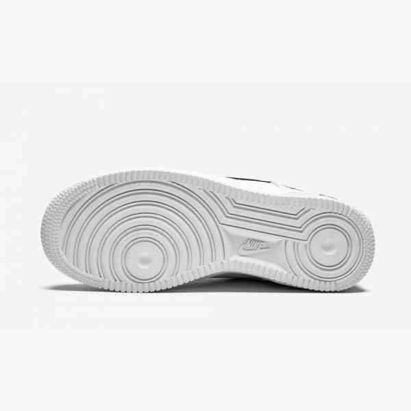 Nike Air Force 1 LV8 Utility (GS) AR1708 100 Black White/White-Black-Tour Yellow Running Shoes