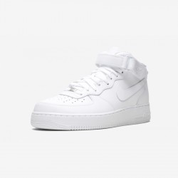 Nike Air Force 1 Mid 07 315123 111 White White/White Running Shoes