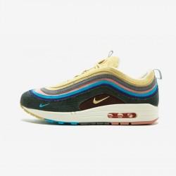 "Nike Air Max 1/97 VF SW ""Sean Wotherspoon"" AJ4219 400 Multicolore Lt Blue Fury/Lemon Wash Running Shoes"