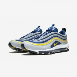 Nike Air Max 97 921826 006 Blue Wolf Grey/Tour Yellow-Gym Blue Running Shoes