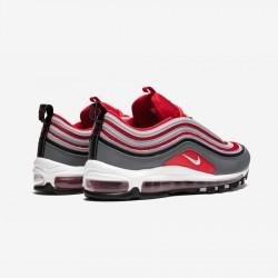 Nike Air Max 97 921826 007 Grey Dark Grey/Wolf Grey-Gym Red Running Shoes