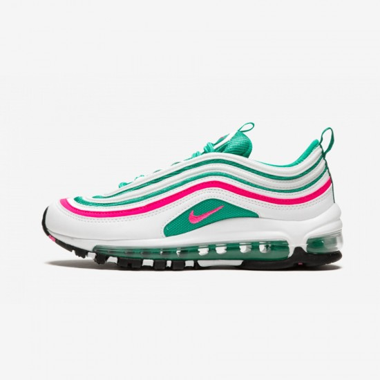 Nike Air Max 97 (GS) 921522 101 Green White/Pink Blast-Kinetic Green Running Shoes