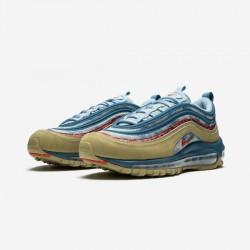 "Nike Air Max 97 (GS) ""Wild West"" BV6374 200 Beige Parachute Beige/University Red Running Shoes"