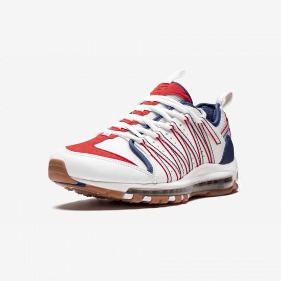 "Nike Air Max 97 / Haven / Clot ""CLOT - Deep Royal"" AO2134 101 Blue White/Sail-Deep Royal Blue Running Shoes"