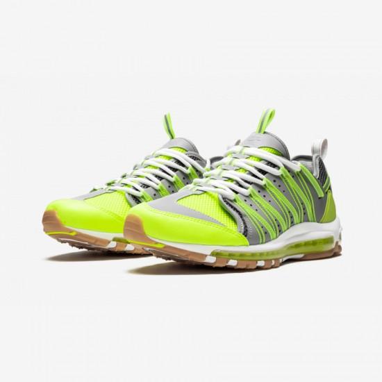 """Nike Air Max 97 / Haven / Clot """"CLOT - Volt"""" AO2134 700 Green Volt/Dark Grey-Pure Platinum Running Shoes"""