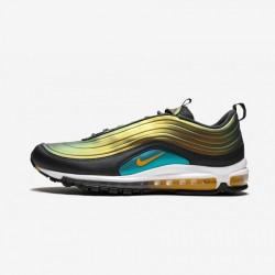 "Nike Air Max 97 LX ""Liquid Metal"" AV1165 002 Green Anthracite/Amarillo Running Shoes"