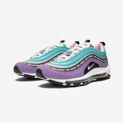 """Nike Air Max 97 ND """"Have A Nike Day"""" BQ9130 500 Black Space Purple/White-Black Running Shoes"""