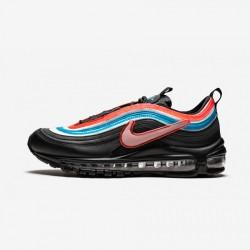 """Nike AIR MAX 97 OA """"On Air - Seoul"""" CI1503 001 Black Black/Reflect Silver-Blue Lago Running Shoes"""