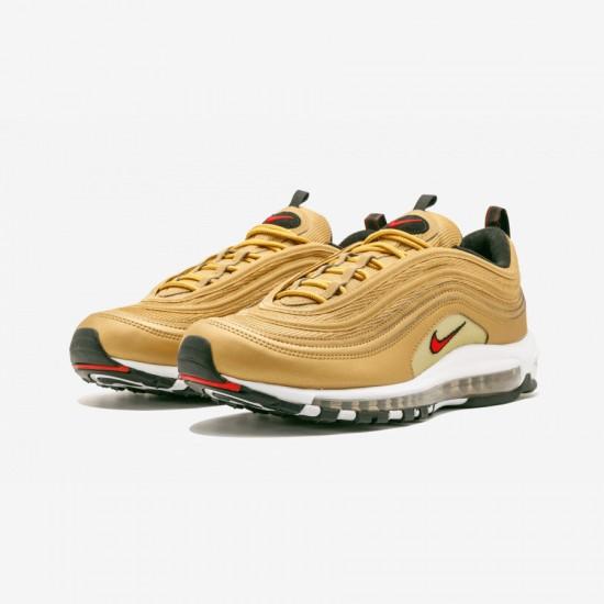 Nike Air Max 97 OG QS 884421 700 Gold Metallic Gold/Varsity Red Running Shoes