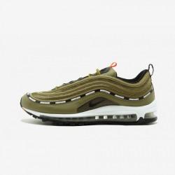 "Nike Air Max 97 OG / UNDFTD ""Undefeated"" AJ1986 300 Black Militia Green/ Metallic Silver Running Shoes"