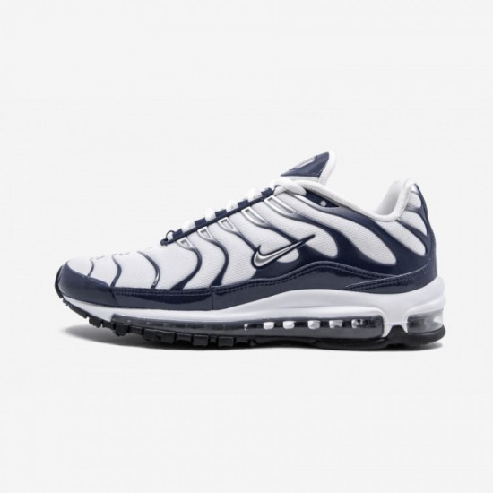 Nike Air Max 97 / Plus AH8144 100 Navy White/Metallic Silver Running Shoes