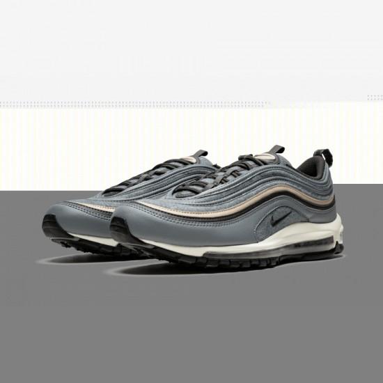 Nike Air Max 97 Premium 312834 003 Black Cool Grey/Deep Pewter-Mushroom Running Shoes