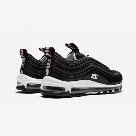 Nike Air Max 97 Premium 312834 008 Black Black / White-Varsity Red Running Shoes